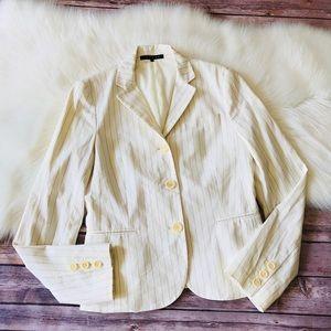 Theory Striped Slim Fit Blazer Jacket Sz 6